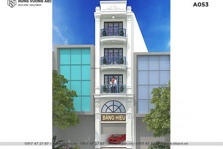 Nhà phố Tân cổ điển 4 tầng 4×18 – A053