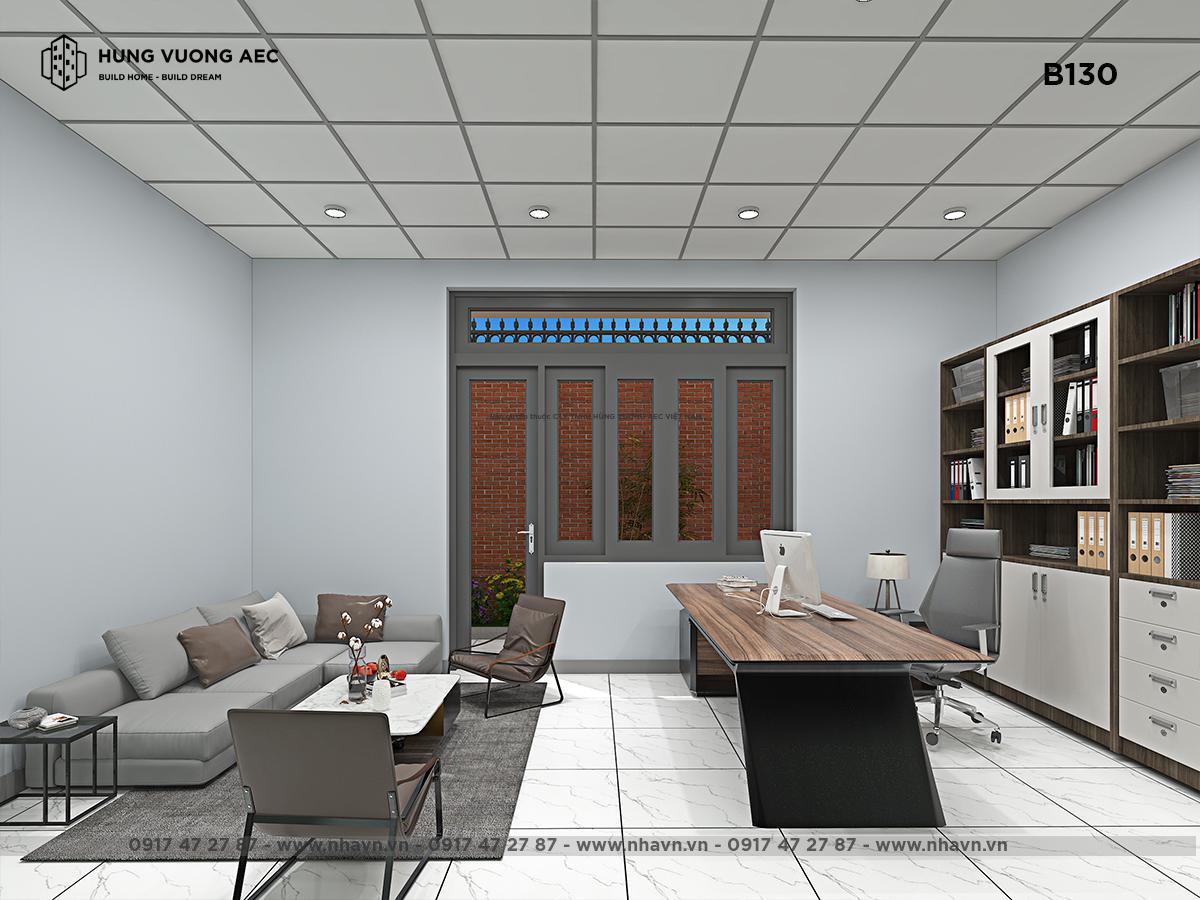 Nội thất văn phòng kết hợp nhà ở 12×13 – B130