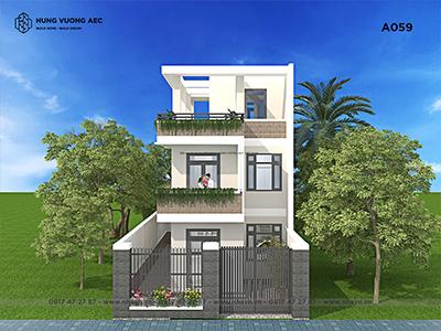 Nhà phố hiện đại 3 tầng 6×13,5 – A059