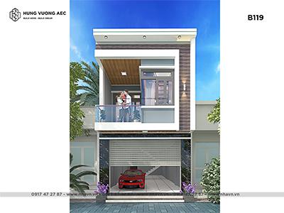 Nhà phố hiên đại 2 tầng 5×20 – B119