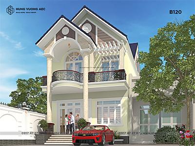 Nhà mái thái 2 tầng 6,8×14,5 – B120