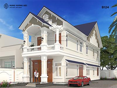 Biệt thự 2 tầng mái thái 6×26 – B124