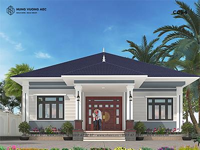 Nhà mái nhật 1 tầng 15×13 – C094