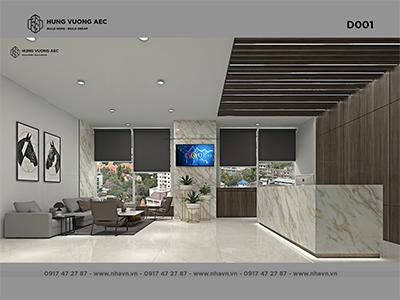 Nội thất văn phòng 370 m2 hiện đại – D001